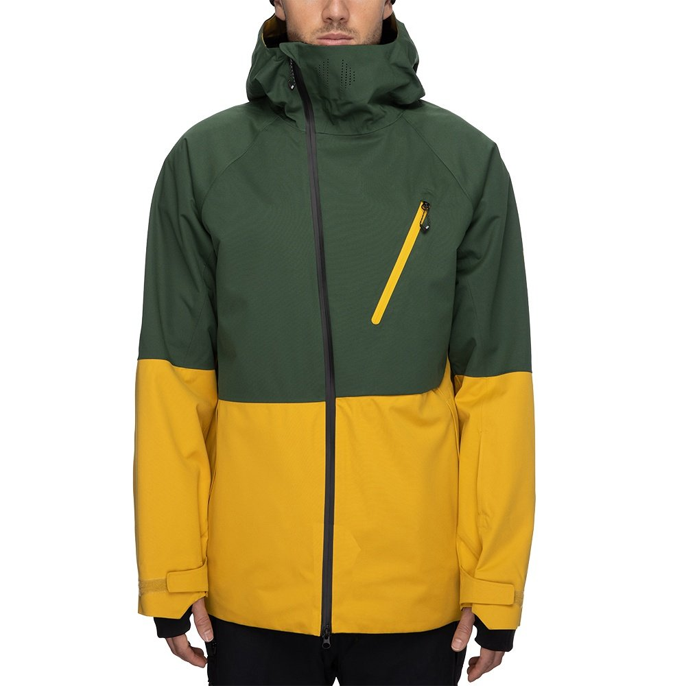 686 GLCR Hydra Thermagraph Insulated Snowboard Jacket (Men's) - Pine Green Colorblock