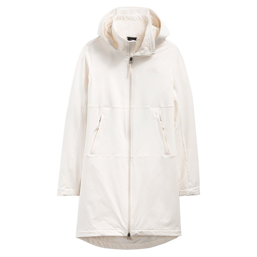 The North Face Shelbe Raschel Parka Length Jacket with Hood (Women's) - Gardenia White Heather