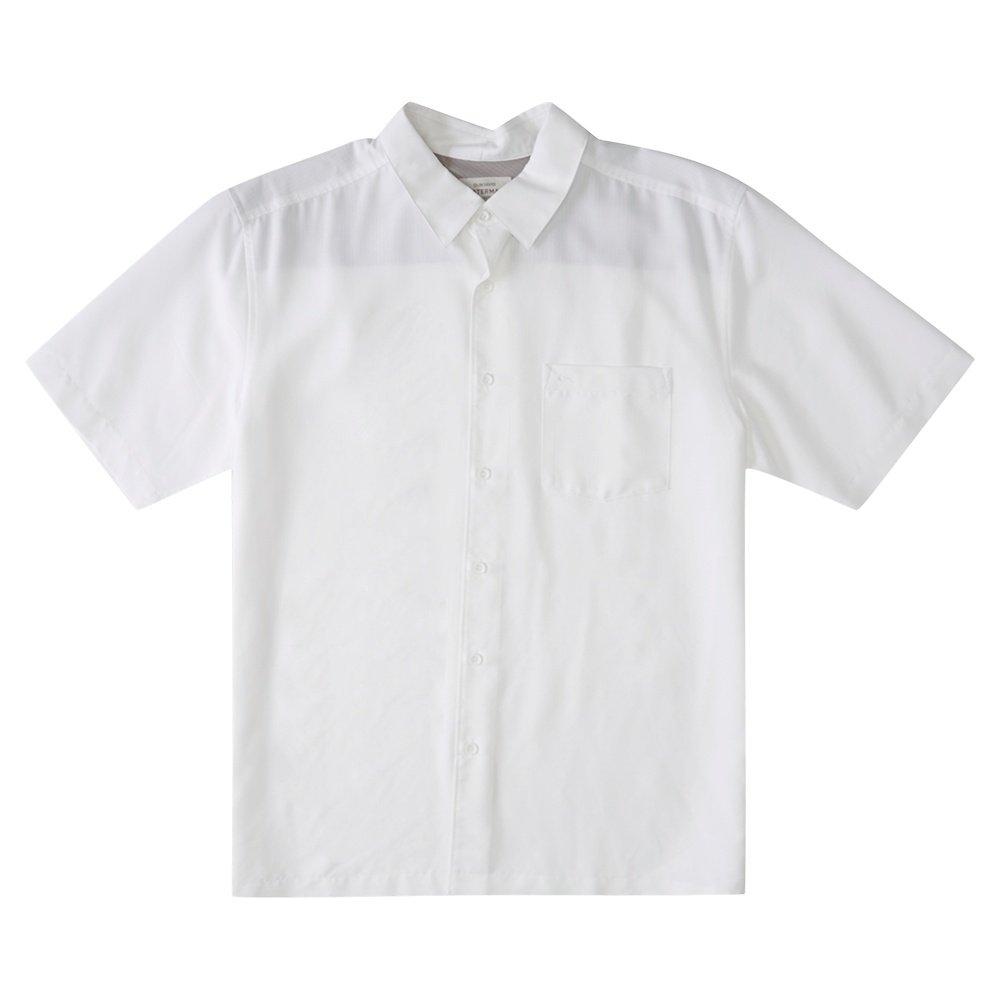 Quiksilver Waterman Centinela Short Sleeve Shirt (Men's) - White Centinella