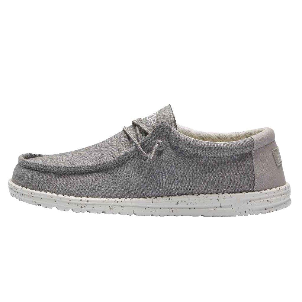 Hey Dude Wally Chambray Shoe (Men's) - Frost Grey