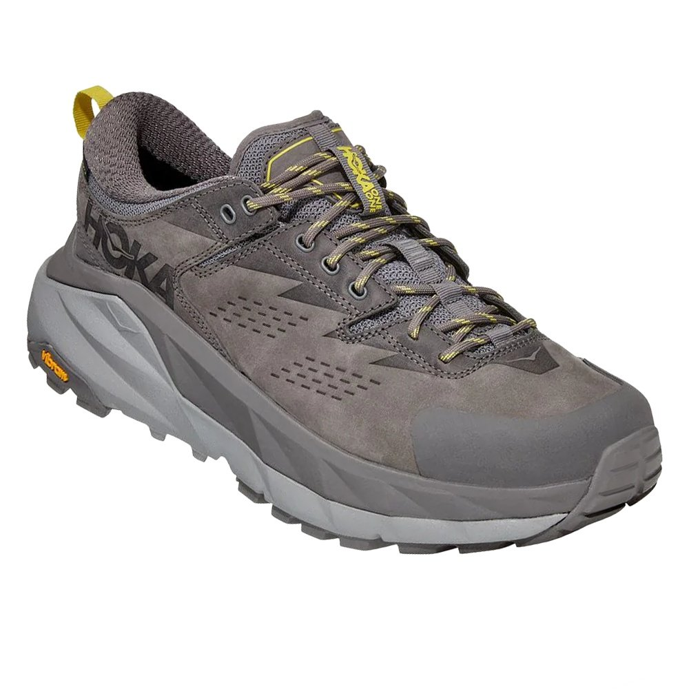 Hoka One One Kaha Low GORE TEX Hiking Shoe (Men's) - Charcoal Gray/Green Sheen