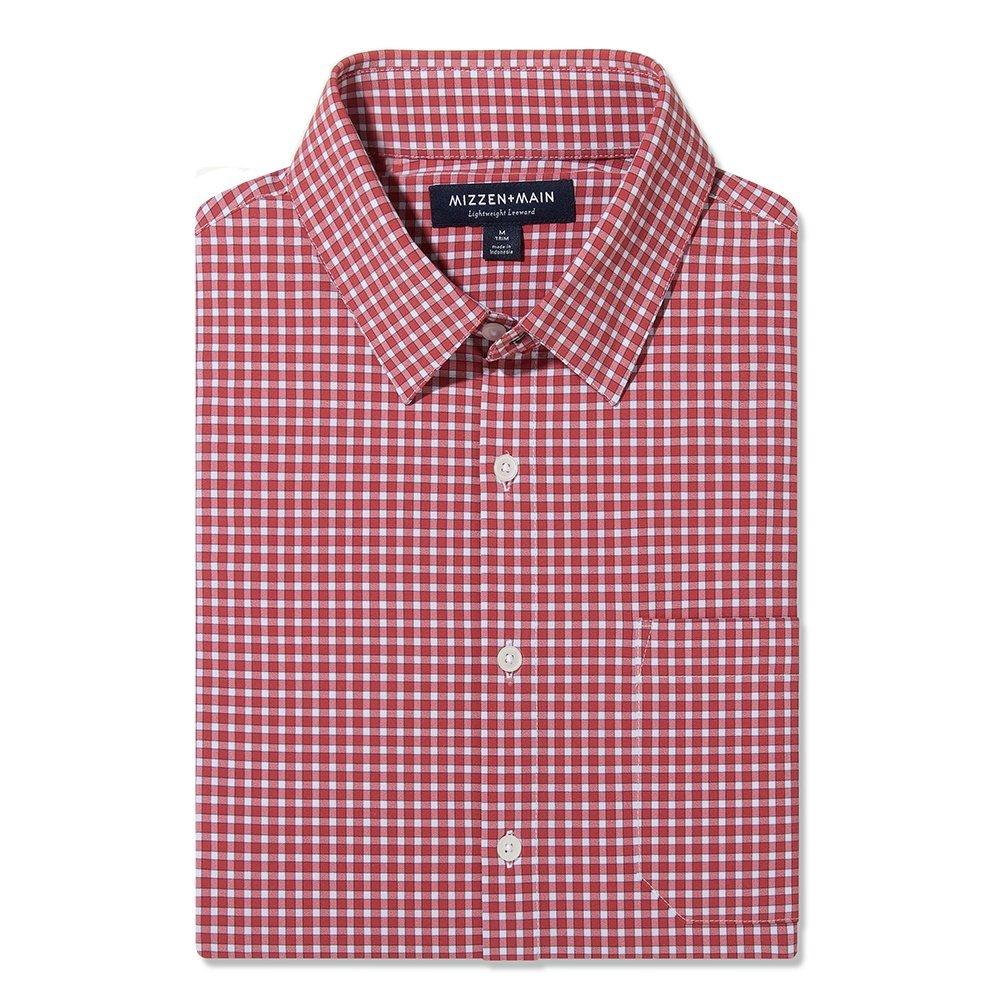 Mizzen + Main Lightweight Leeward Longsleeve Shirt (Men's) - Red Gingham