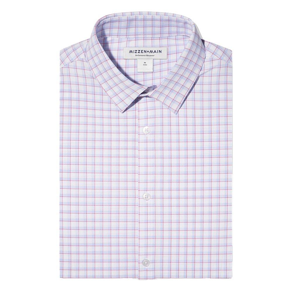 Mizzen + Main Leeward Longsleeve Shirt (Men's) - Red/Light Blue Multi Check