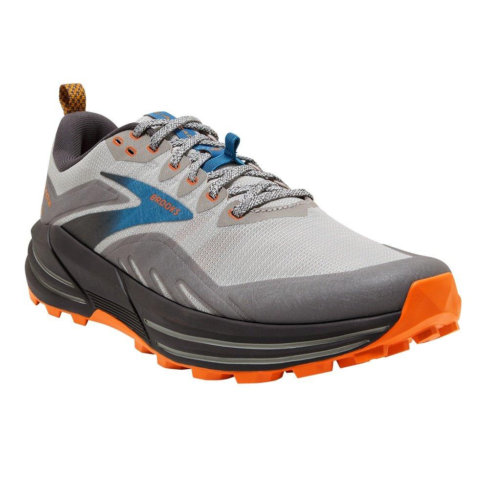 Brooks Cascadia 16 Trail Running Shoe (Men's) - Oyster Mushroom/Alloy/Orange