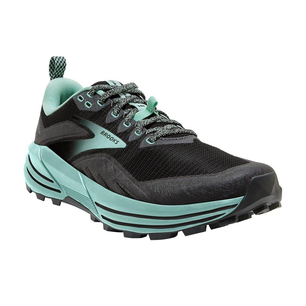 Brooks Cascadia 16 Trail Running Shoe (Women's) - Black/Ebony/Yucca