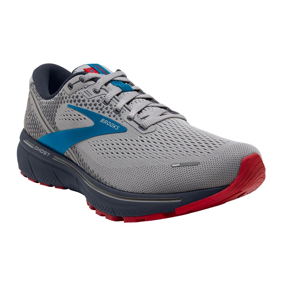 Brooks Ghost 14 Running Shoe (Men's) - Grey/Blue/Red