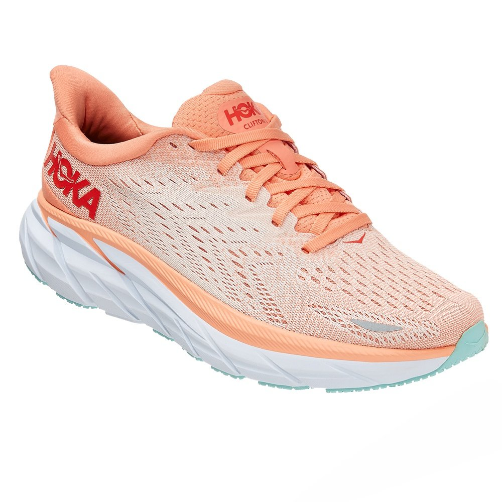 Hoka One One Clifton 8 Running Shoe (Women's) - Canteloupe/Silver Peony