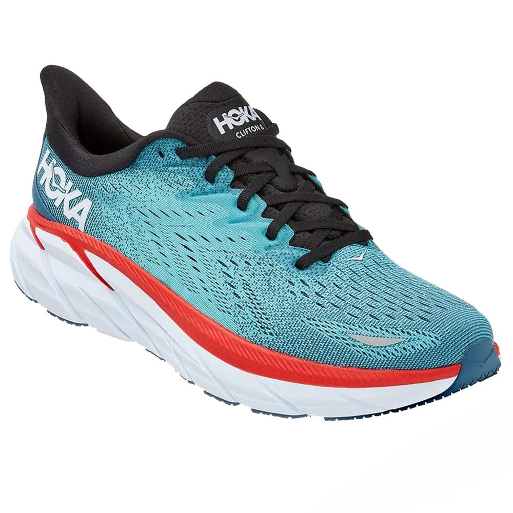 Hoka One One Clifton 8 Wide Running Shoe (Men's) - Real Teal/Aquarelle