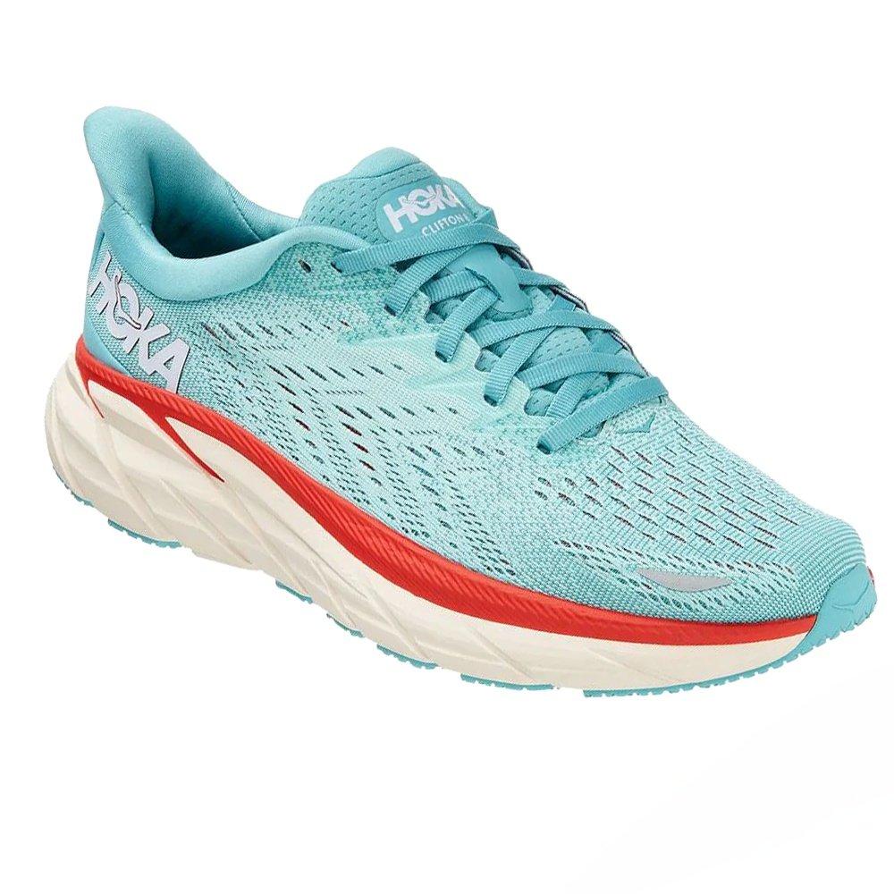 Hoka One One Clifton 8 Wide Running Shoe (Women's) - Aquarelle/Eggshell Blue
