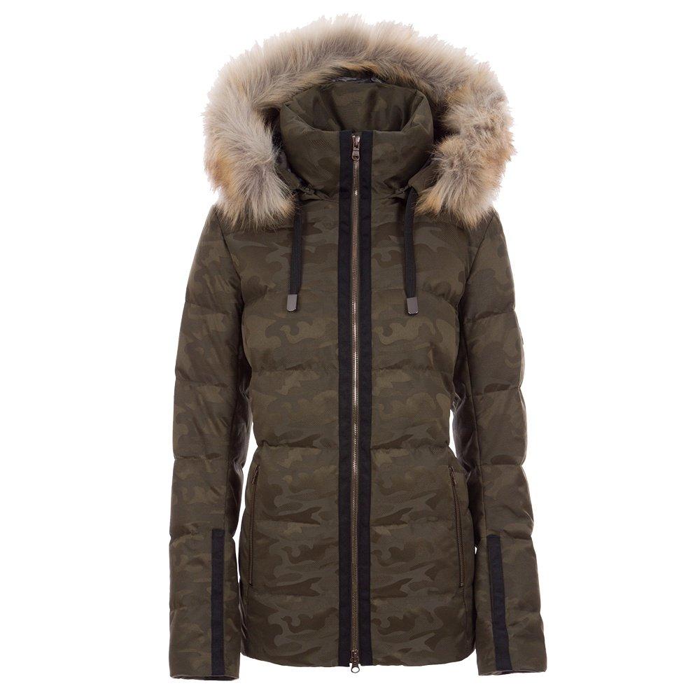 Fera Harper Special Down Ski Jacket with Faux Fur (Women's) - Olive Camo
