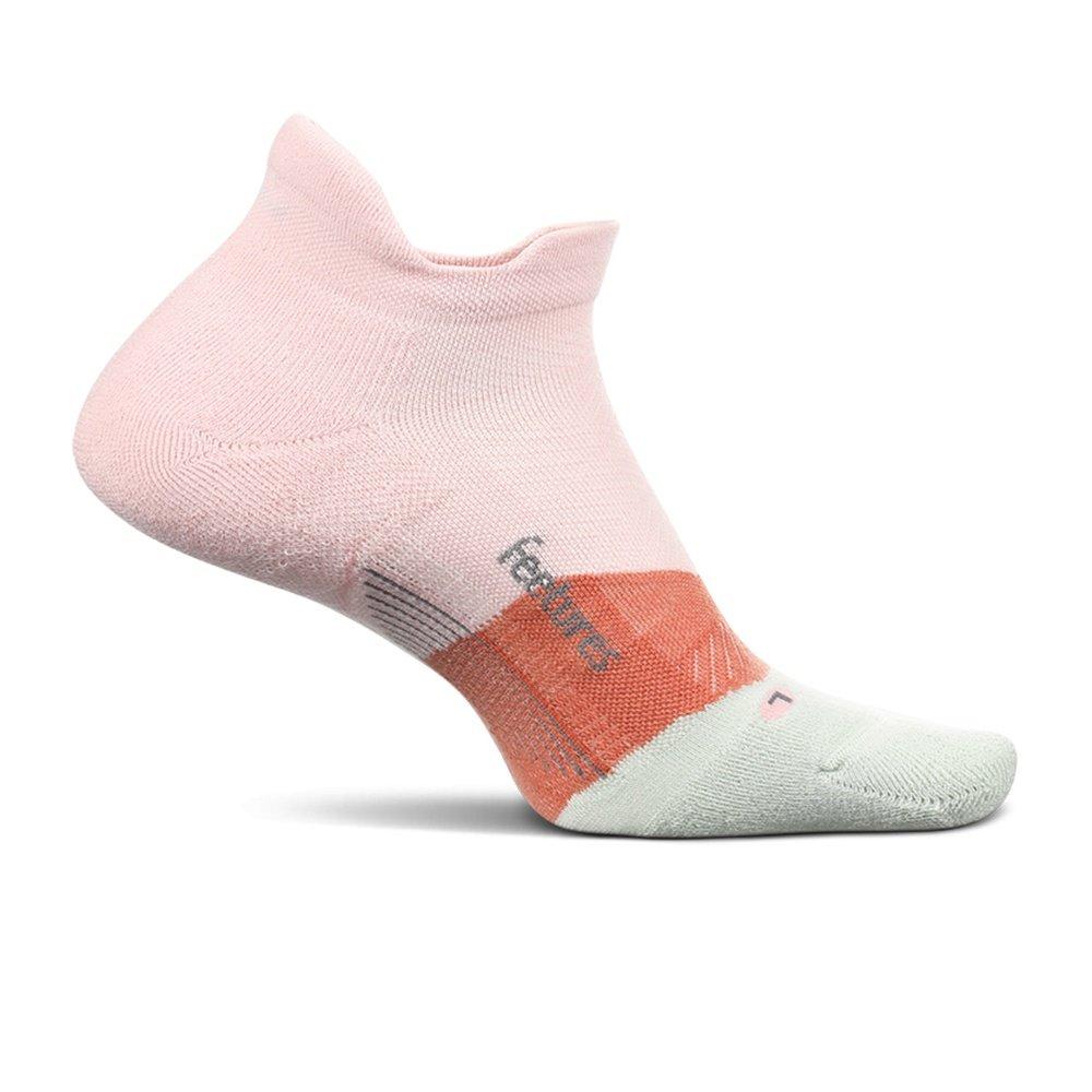 Feetures Elite Light Cushion No Show Tab Running Socks (Adults') - Blush