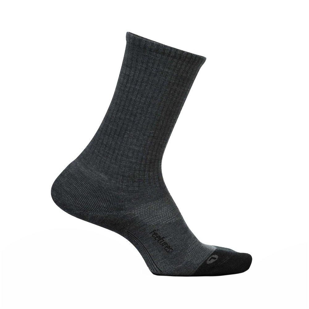 Feetures Merino 10 Cushion Crew Running Socks (Adults') - Gray