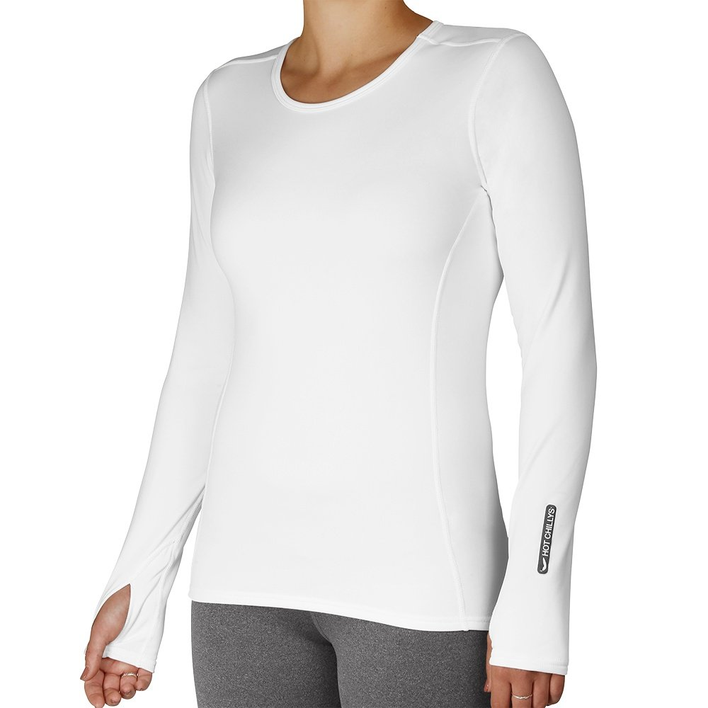 Hot Chillys Micro Elite Crew Baselayer Top (Women's) - White