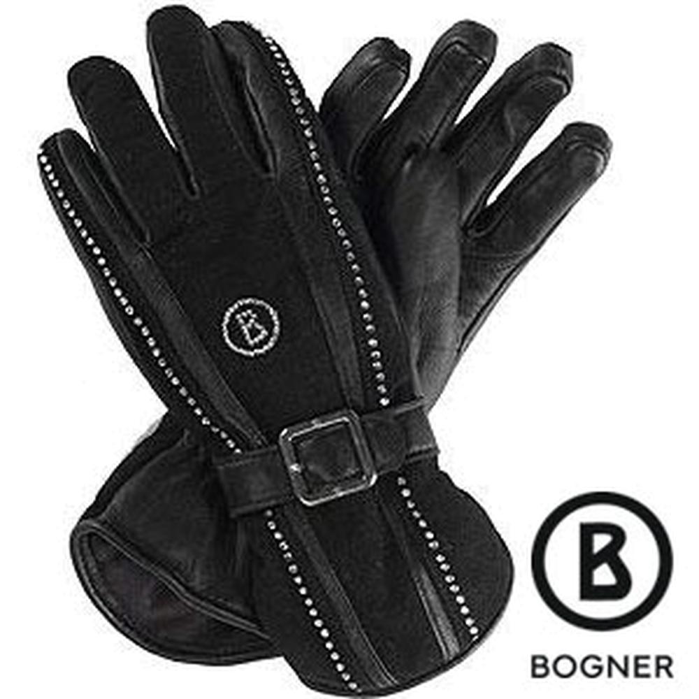 Womens leather ski gloves - Bogner Crystals Leather Apres Ski Gloves Women S Loading Zoom
