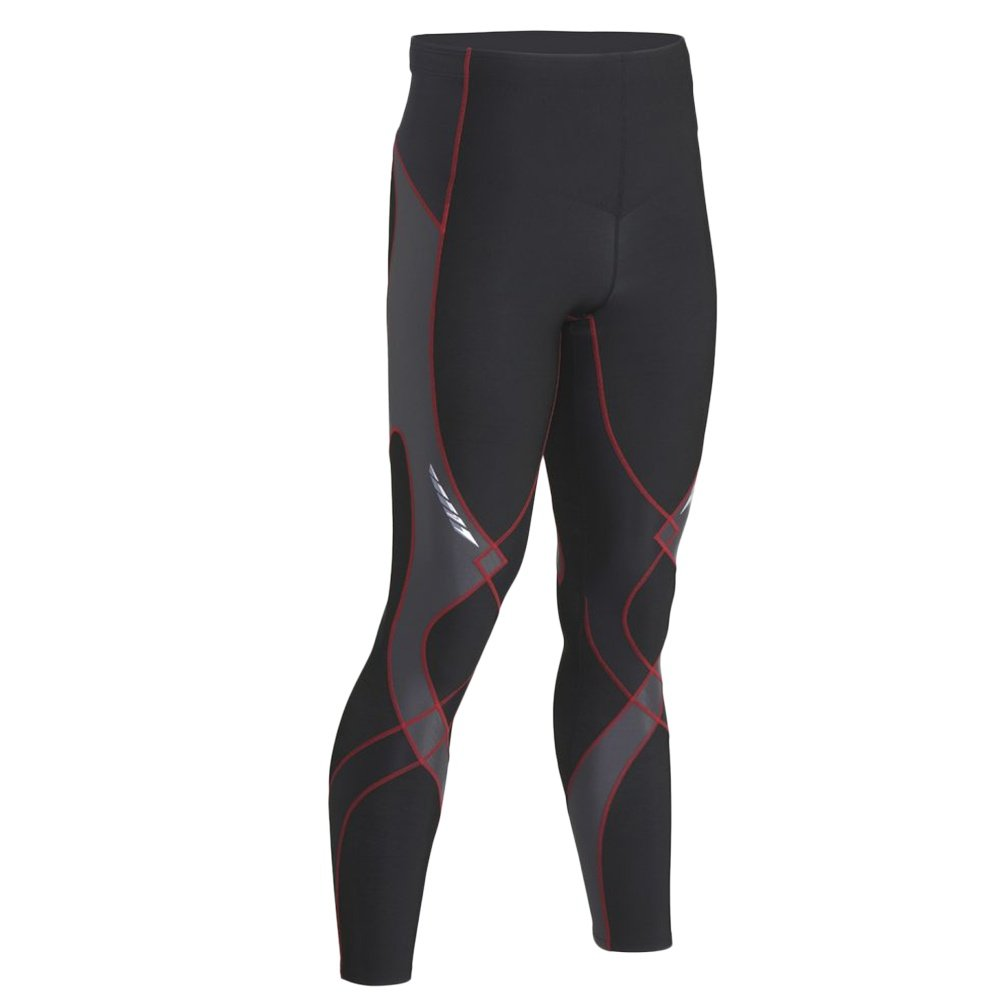 CW-X Insulated Stabilyx Baselayer Bottoms (Men's) - Black/Gray/Red