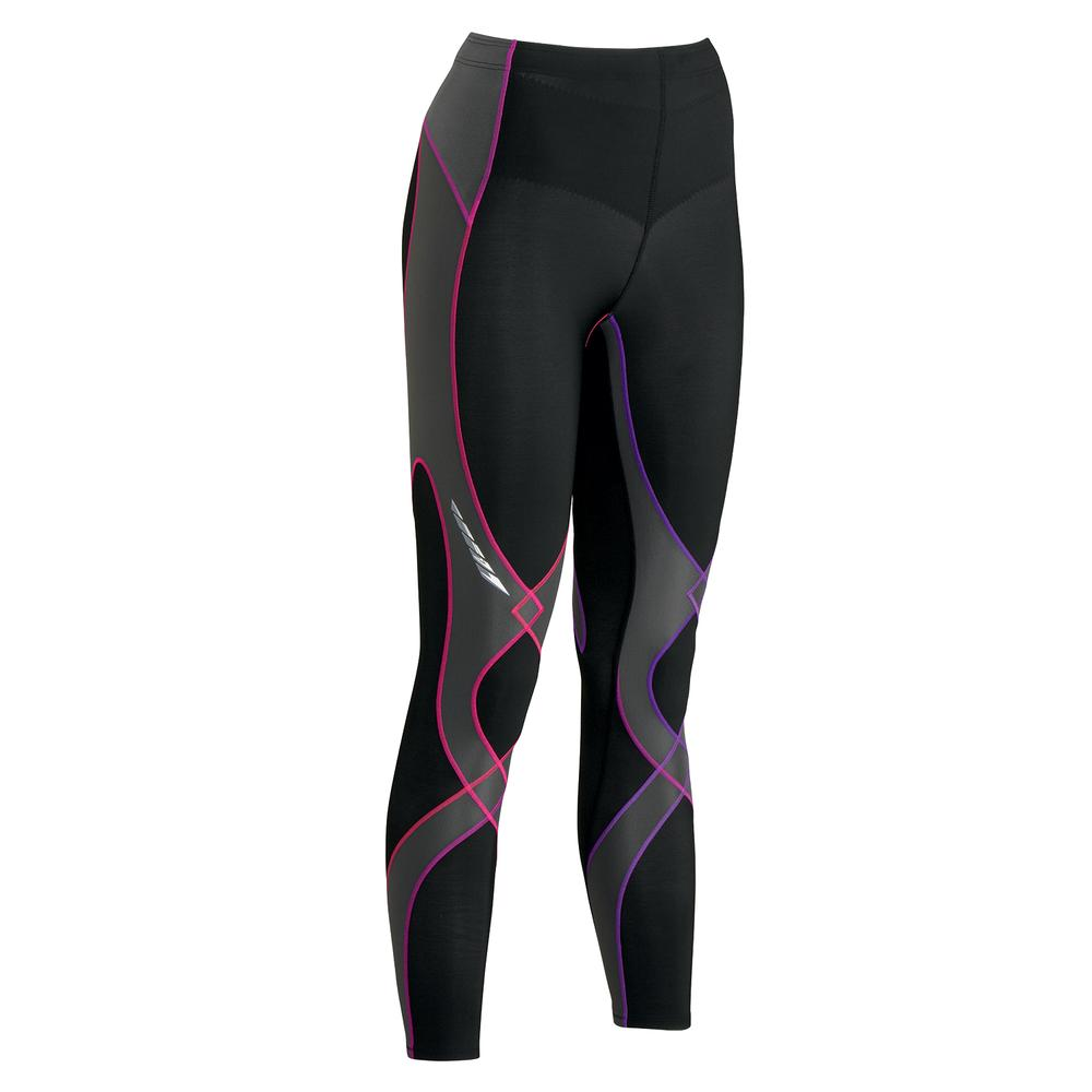 CW-X Insulated Stabilyx Baselayer Bottoms (Women's) - Black/Purple