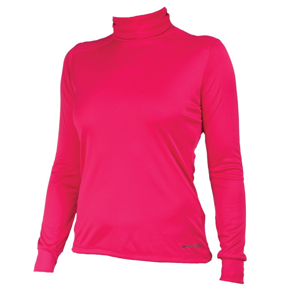 Hot Chillys PeachSkin Roll Down Turtleneck (Women's) - Rose Red