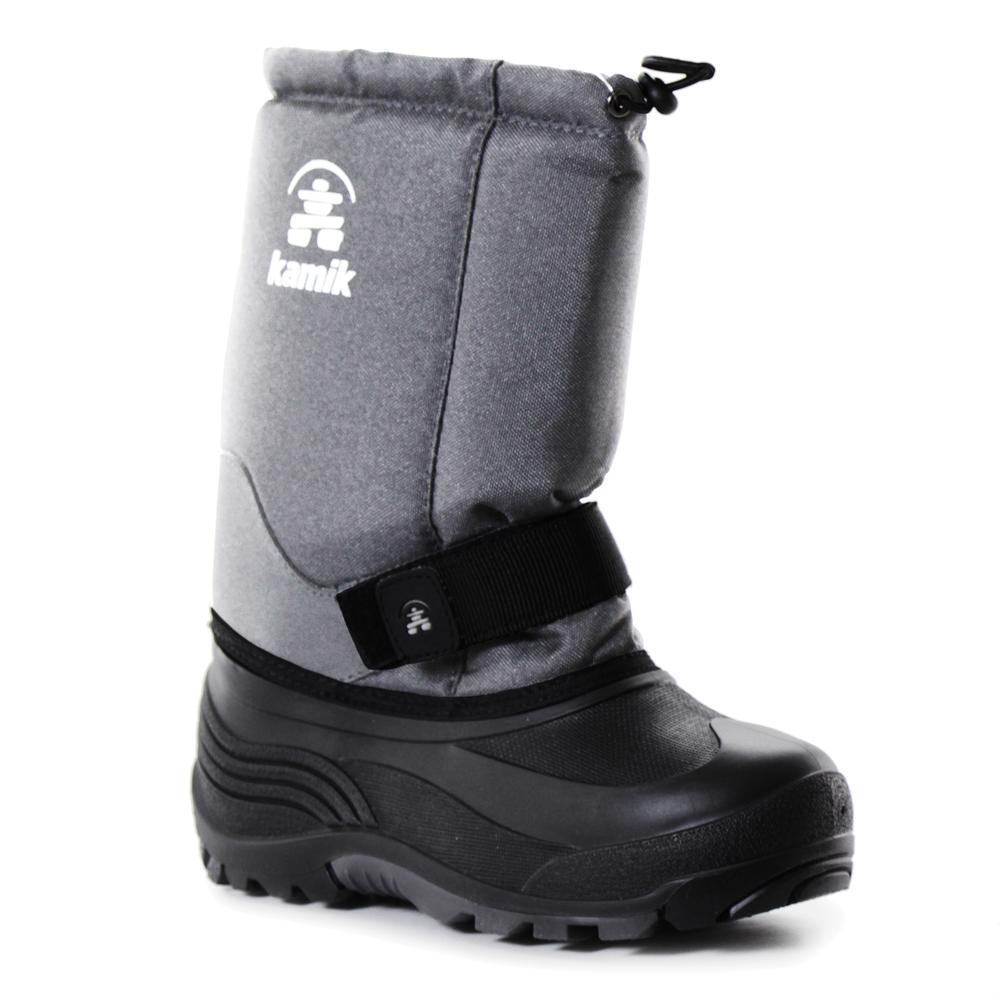 Kamik Rocket Wide Width Winter Boots (Kids') - Charcoal/Grey