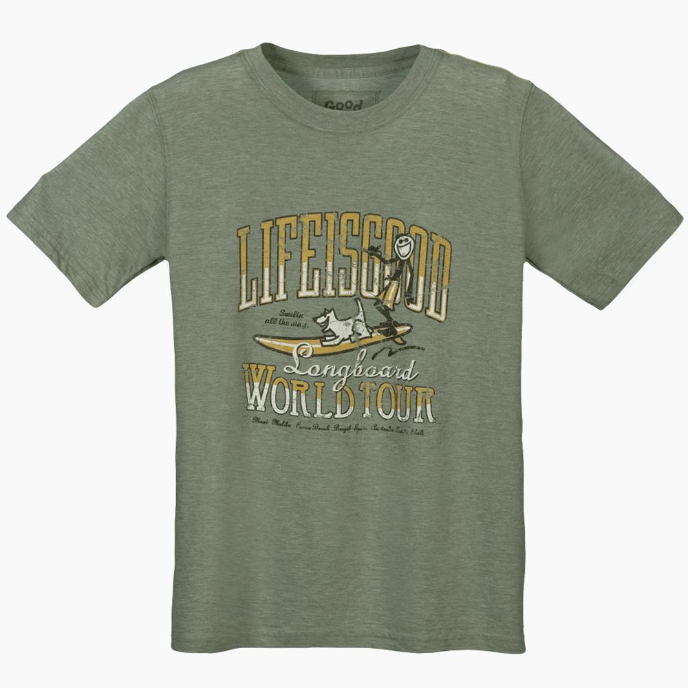 Life Is Good World Tour Surf Cool T Shirt Boys 39 Peter
