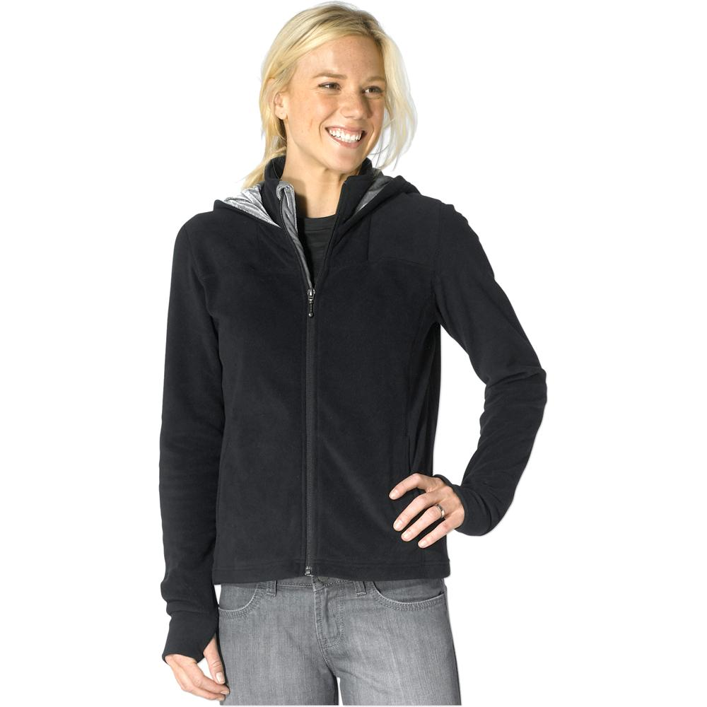 Womens black hoodie zip up