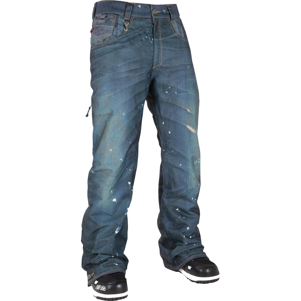 686 Limited Destructed Denim Insulated Snowboard Pant Mens