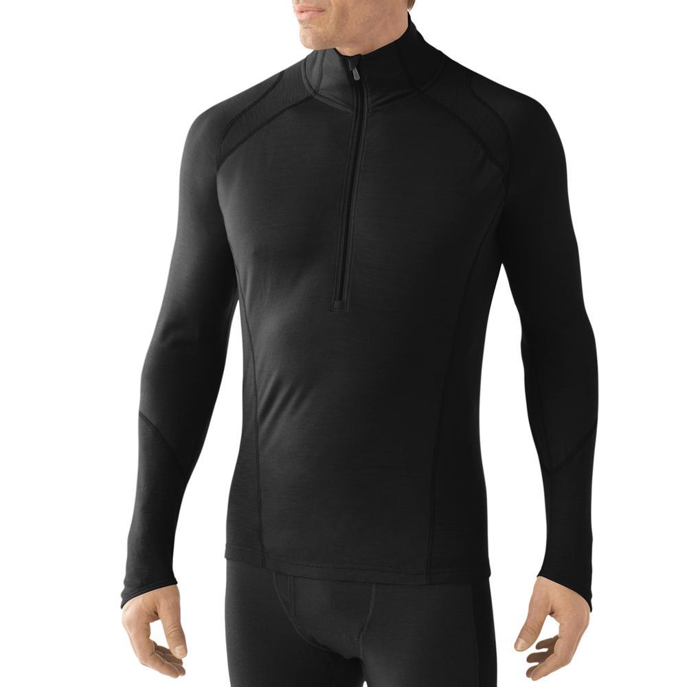 SmartWool Lightweight Zip Baselayer Top (Men's) - Black