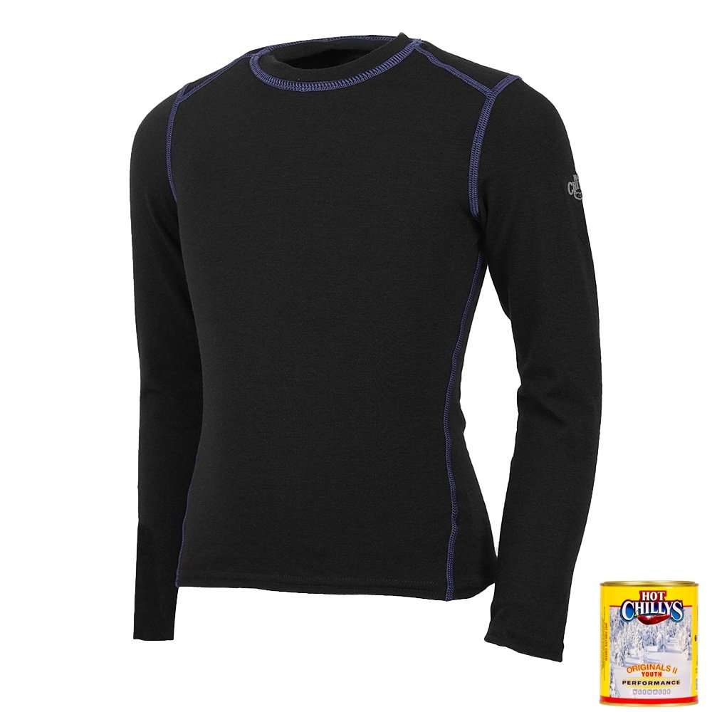 Hot Chillys MTF Original Midweight Baselayer Top (Kids') - Black