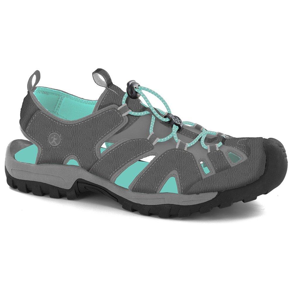 Northside Burke II Sandal (Women's) - Dark Gray/Aqua