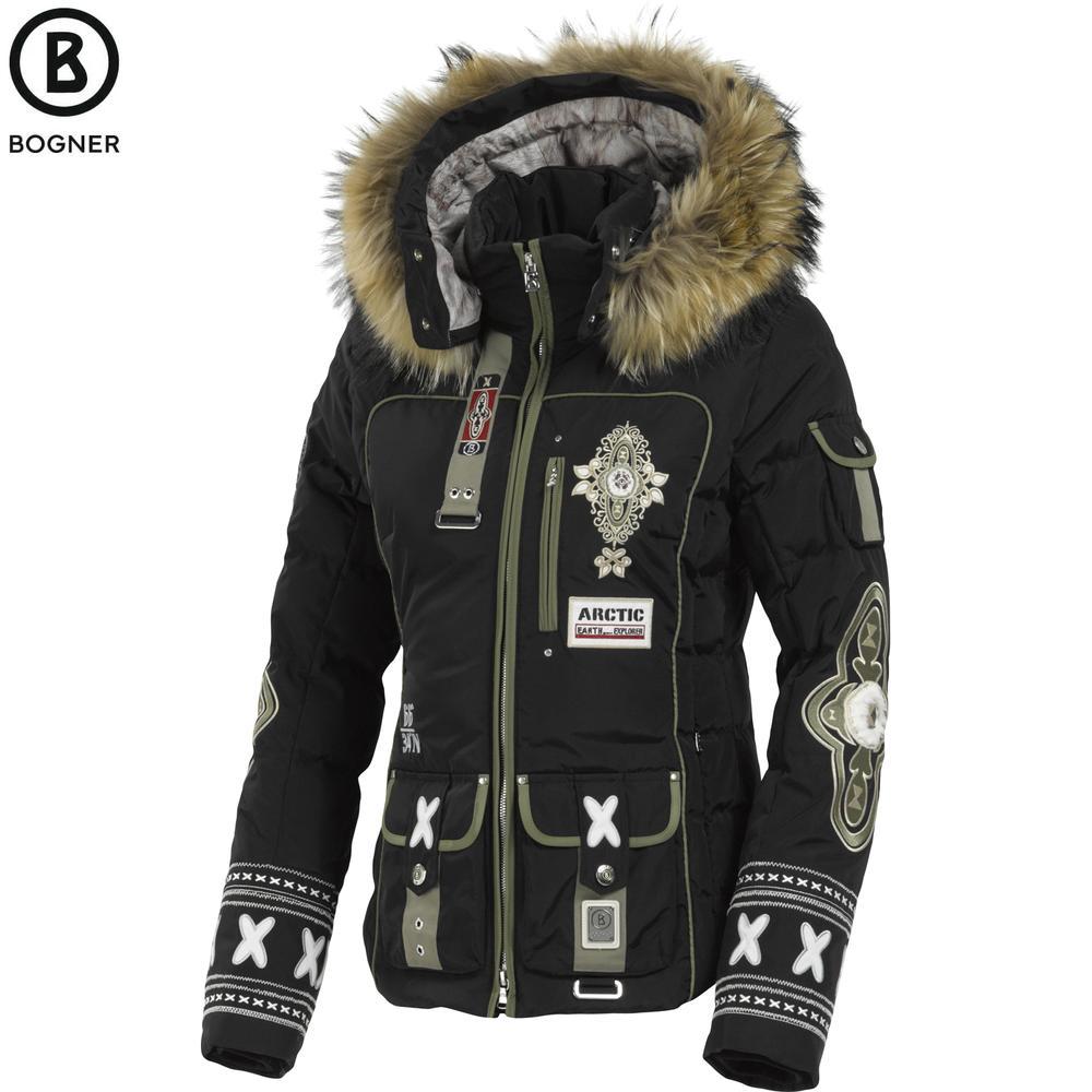 bogner pira d down ski jacket with fur women 39 s peter glenn. Black Bedroom Furniture Sets. Home Design Ideas