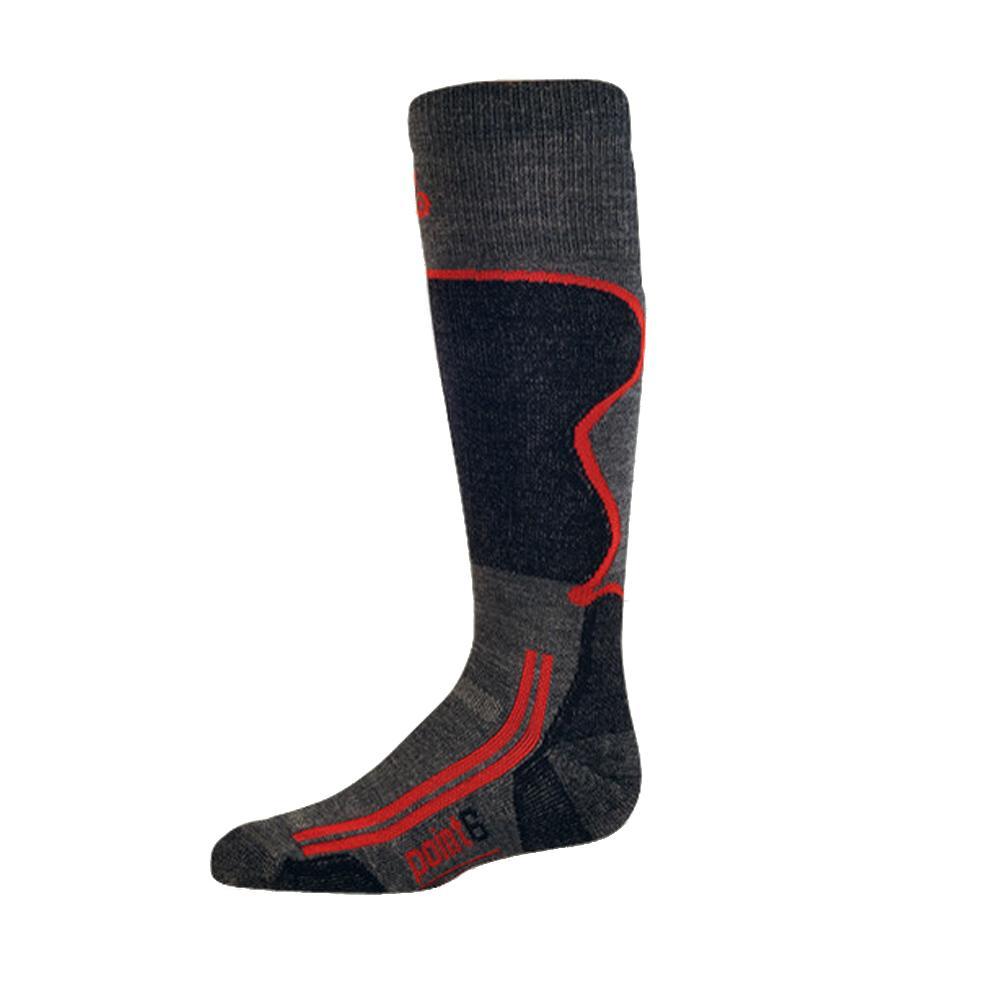 Point6 Kids Light Ski Sock (Kids') - Gray