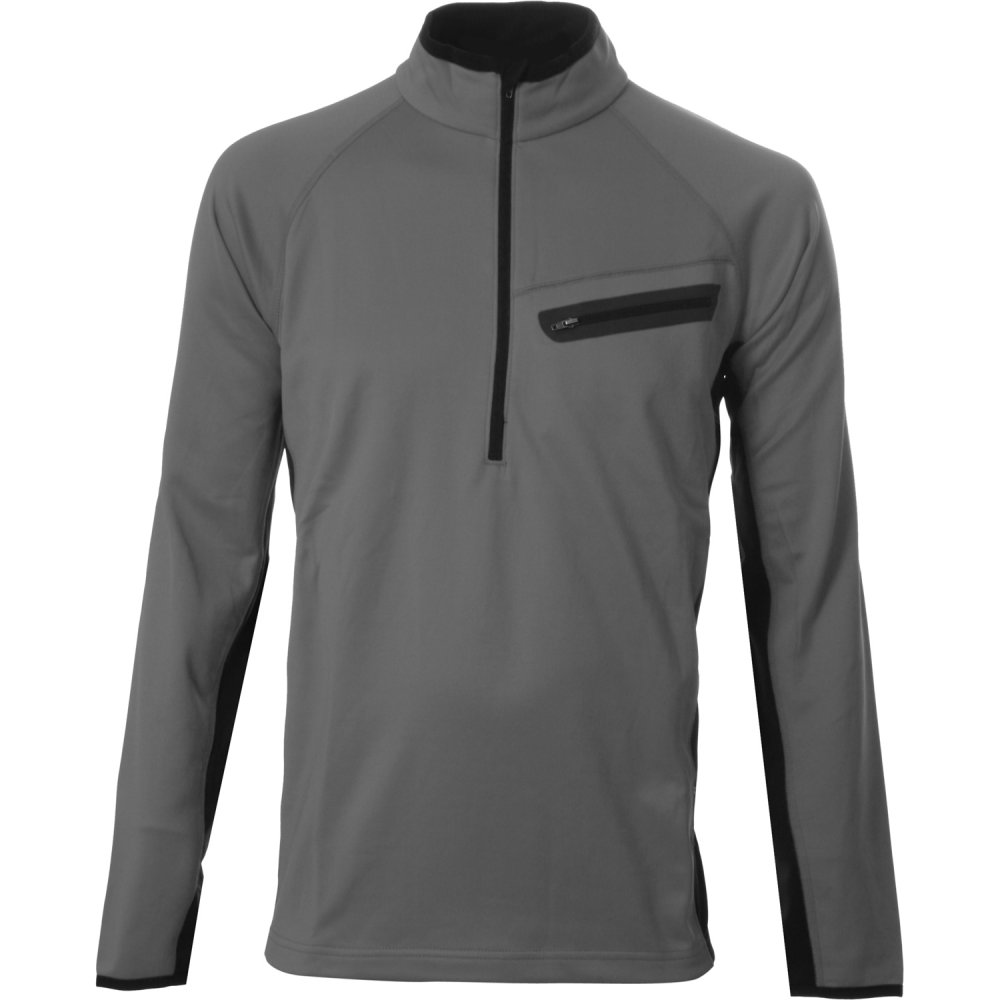 Sno Tek Parkstar Half Zip Fleece Mid-Layer (Men's) - Charcoal/Black
