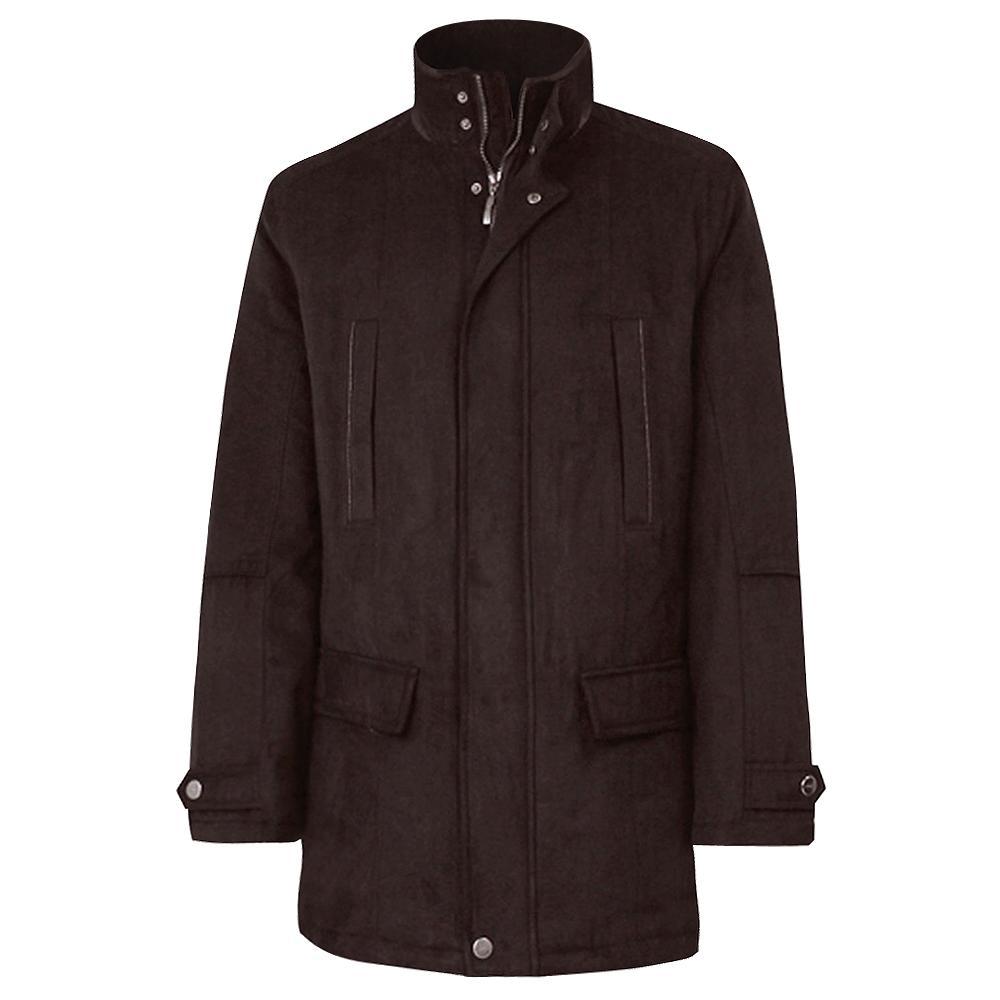 Bugatchi 3/4 Ultra Suede Coat (Men's) - Chocolate