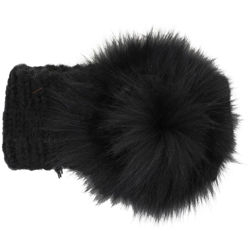 Peter Glenn Fur Flower Headband (Women's) -