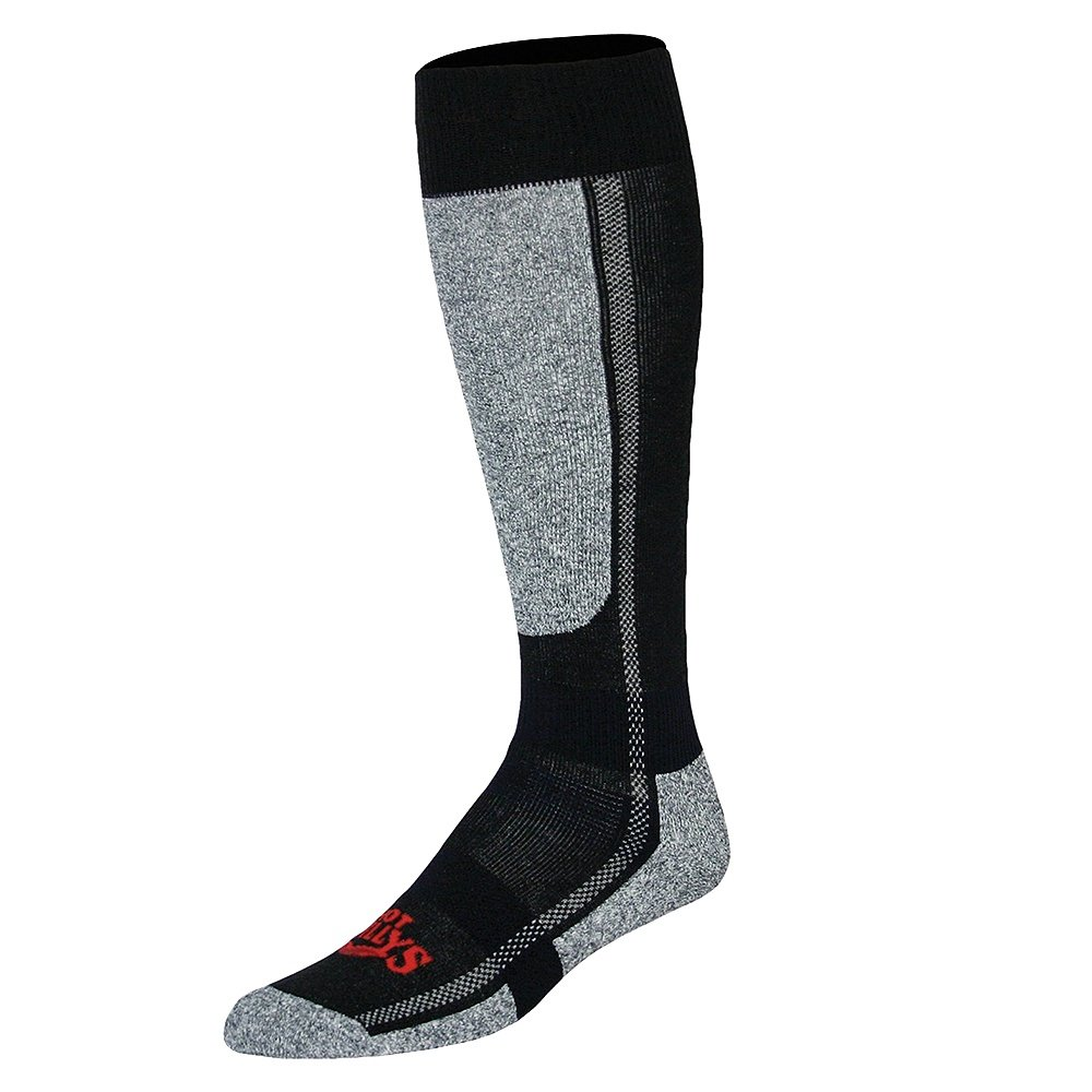 Hot Chillys Mid Volume Ski Sock (Men's) - Black/Heather