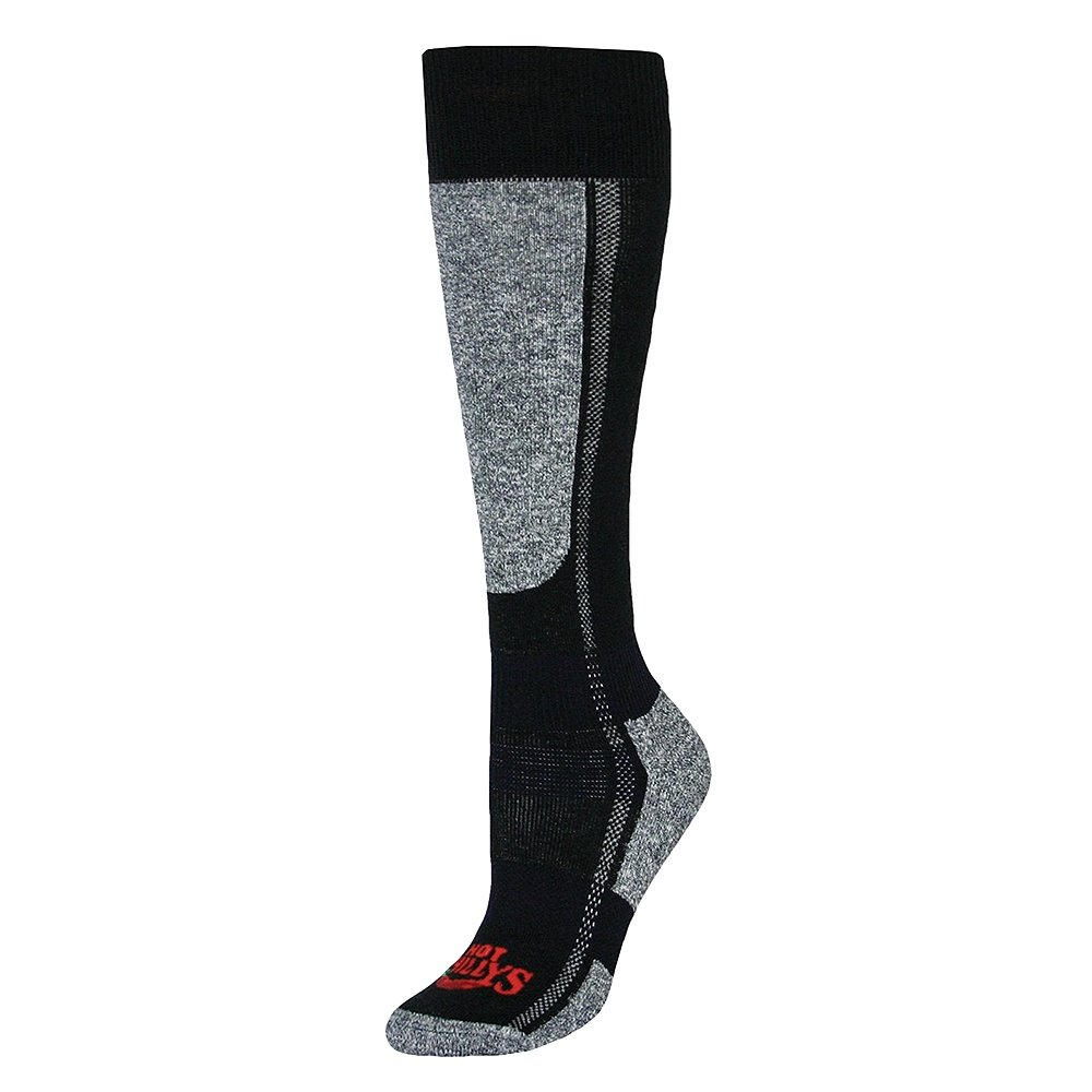 Hot Chillys Mid Volume Ski Sock (Women's) - Black/Heather