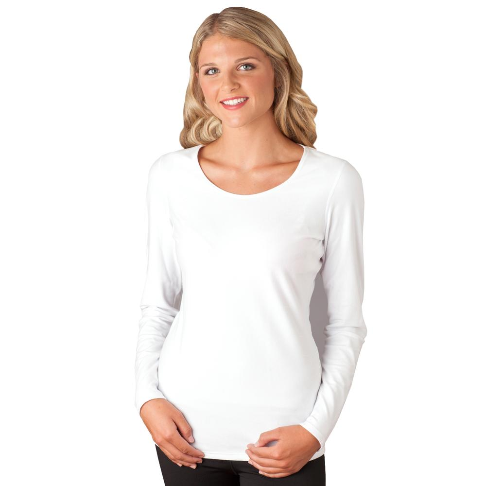 Snow Angel Doeskin Scoop Neck Baselayer Top (Women's) - White