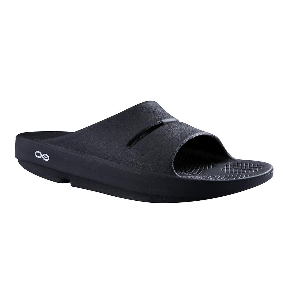 OOFOS OOah Slide Sandal (Adults') - Black