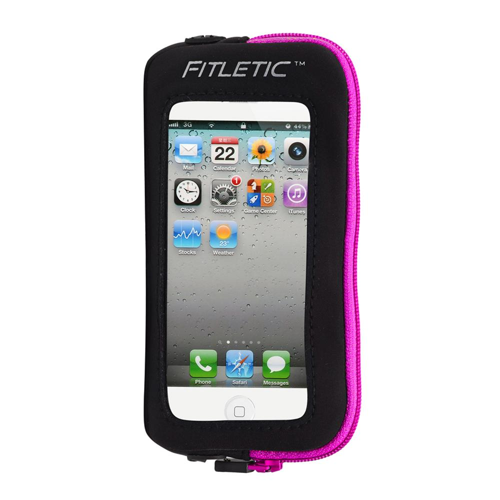 Fitletic Phone Add On Pouch - Black/Pink