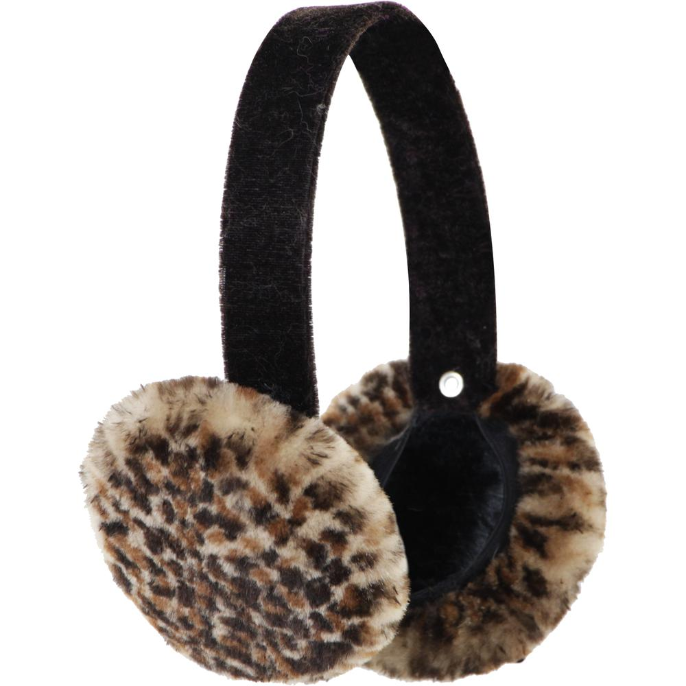 Peter Glenn Cheetah Sheared Mink Earmuff (Women's) -