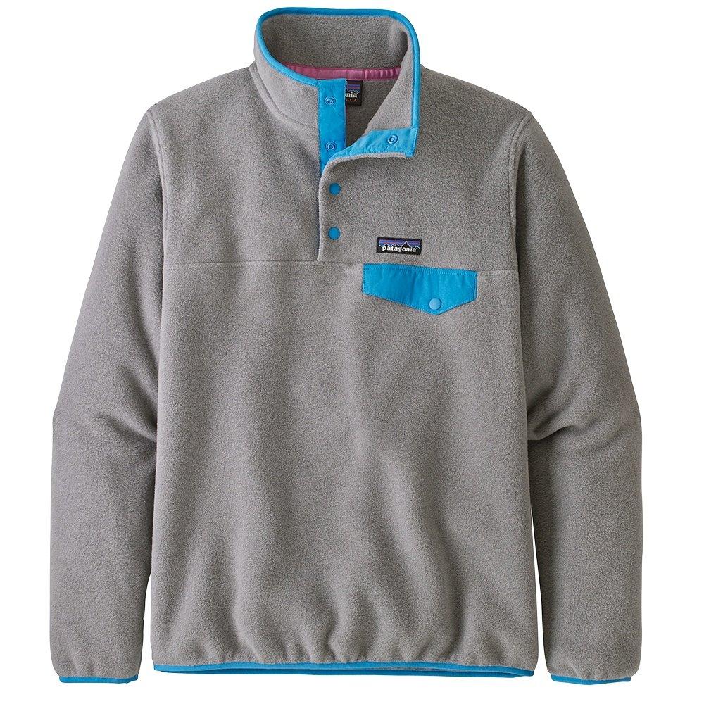 Patagonia Synchilla Lightweight Snap-T Pullover Fleece (Women's) - Feather Grey/Joya Blue