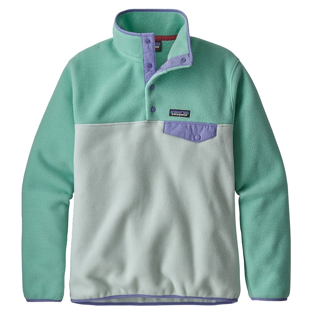 Patagonia Synchilla Lightweight Snap-T Pullover Fleece (Women's) - Lite Distilled Green