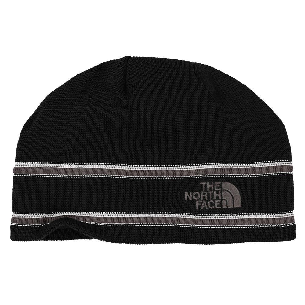 The North Face Logo Beanie (Men's) - TNF Black/Graphite Grey