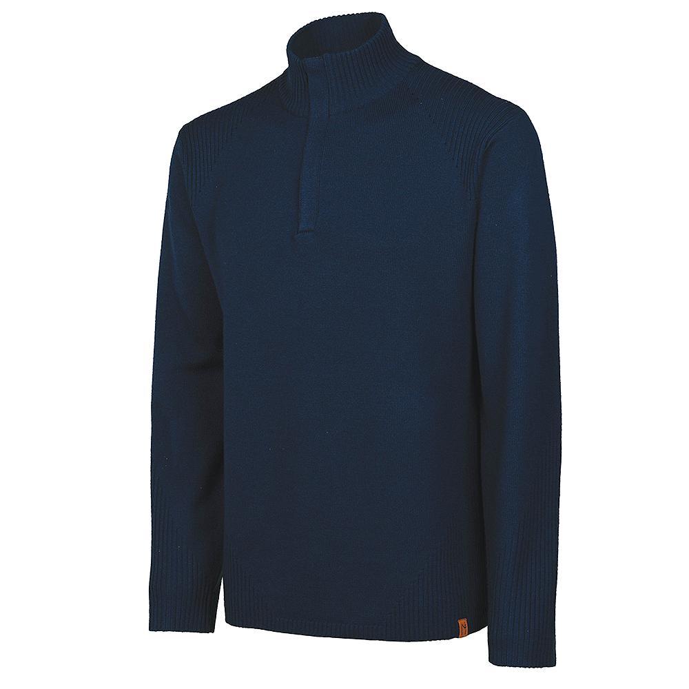 Neve Designs Nolan Half Zip Sweater (Men's) - Navy
