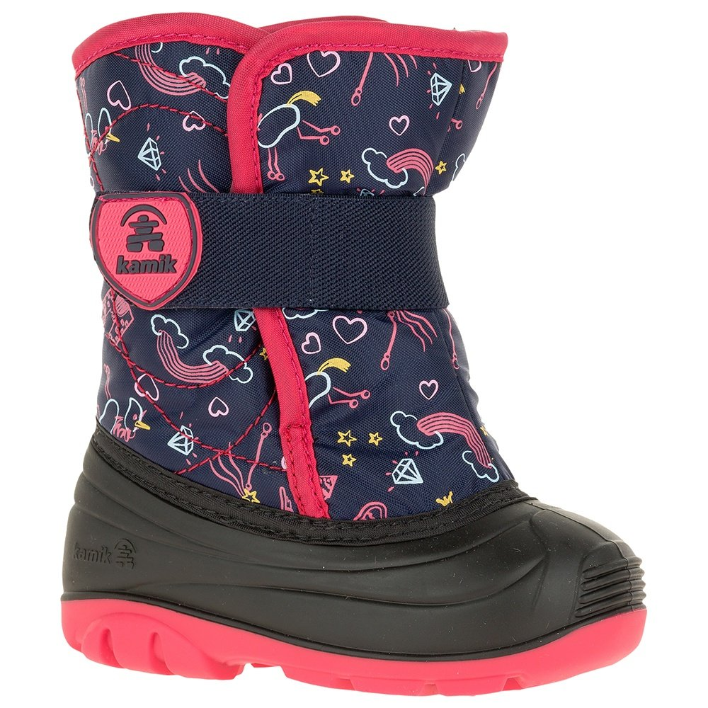 Kamik Snowbug Boot (Little Kids') - Navy/Rose