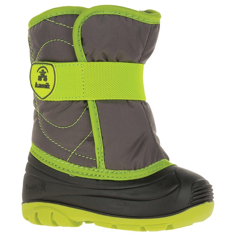 Kamik Snowbug Boot (Little Kids') - Charcoal/Lime