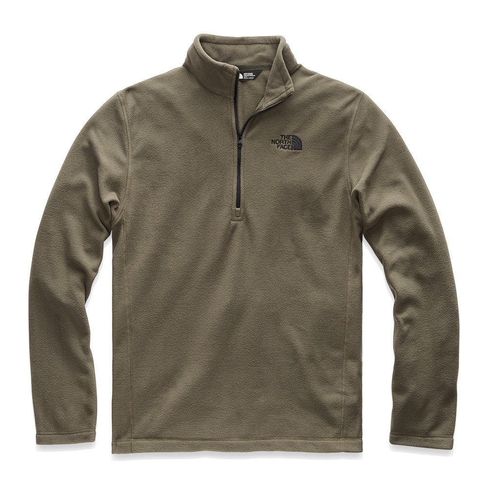 The North Face TKA 100 Glacier Half Zip Fleece Mid-Layer (Men's) - New Taupe Green/TNF Black