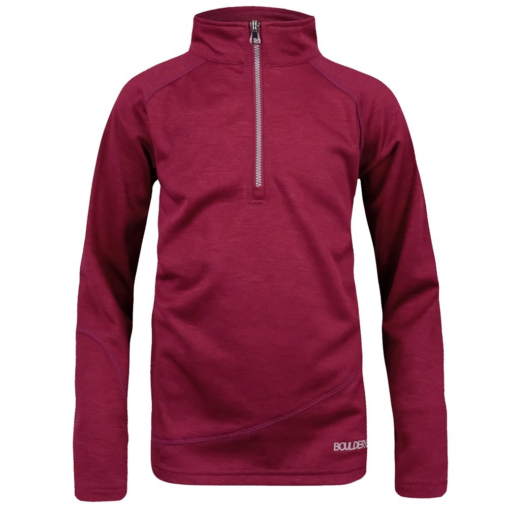 Boulder Gear Ruby Half Zip Fleece Mid-Layer (Girls') - Cranberry