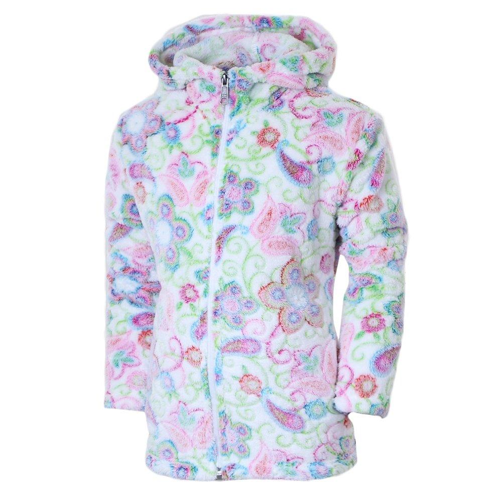 White Sierra Print Winter Blossom Bomber Fleece Hoody (Girls') -