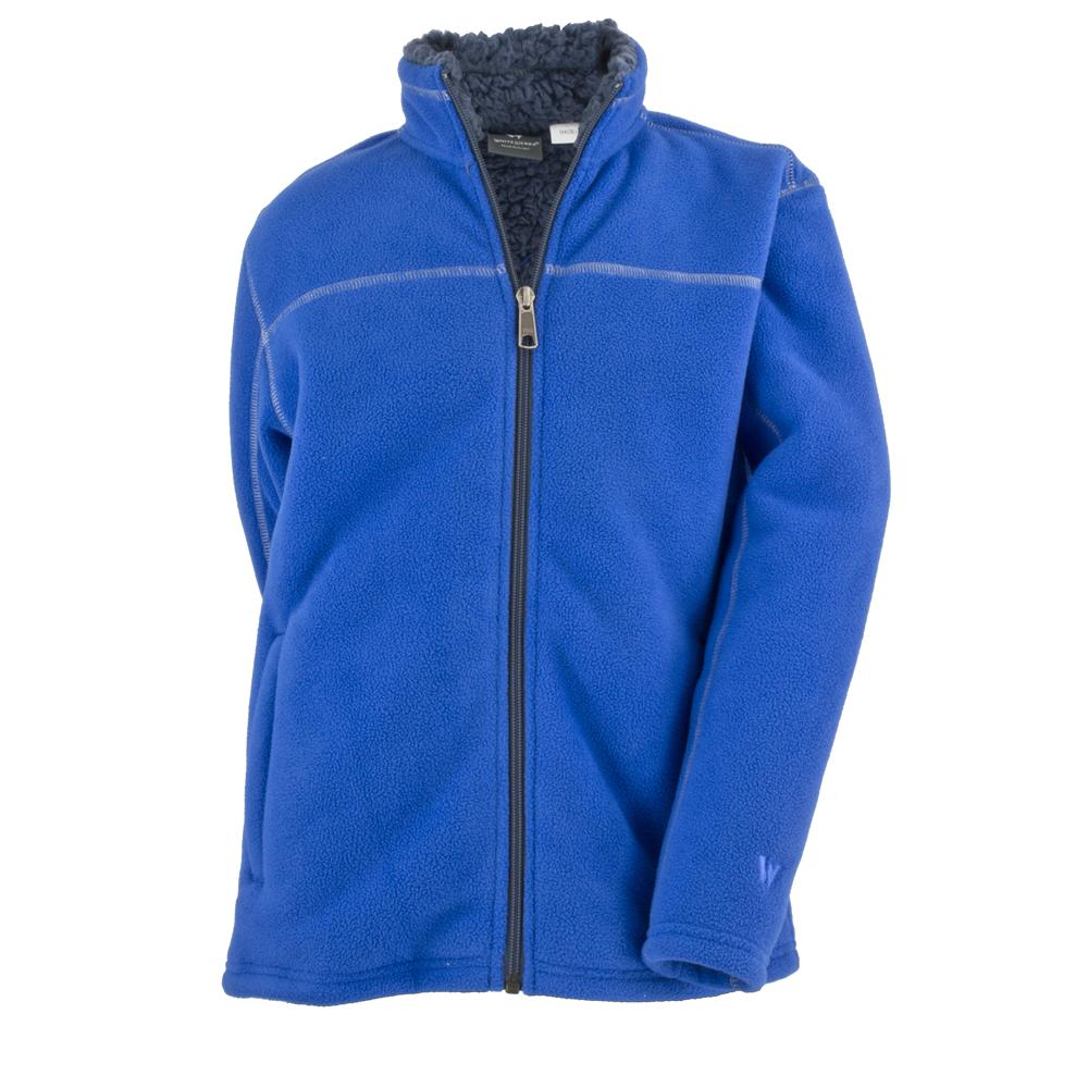 White Sierra Double Bond Fleece Jacket (Boys') - Nautical Blue