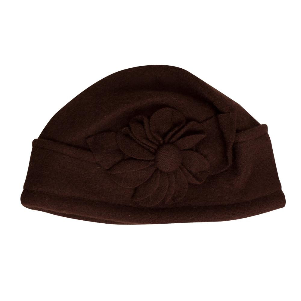 Elan Blanc Wool Cloche Hat (Women's) - Brown